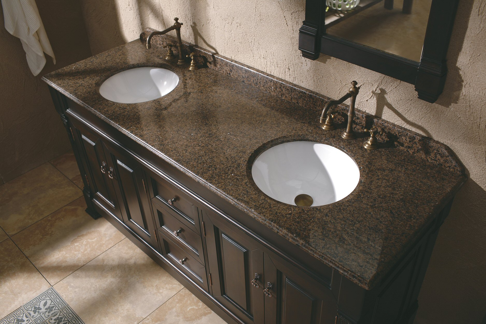 The 72 Ms 1072 Traditional Double Sink Bathroom Vanity